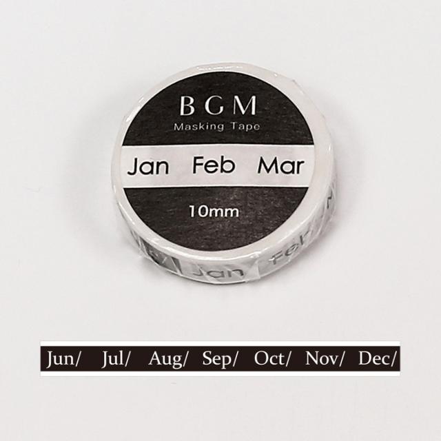BGMマスキングテープ スペシャル ツカイ 日々・月(BM-SPT016)【ネコポスOK】