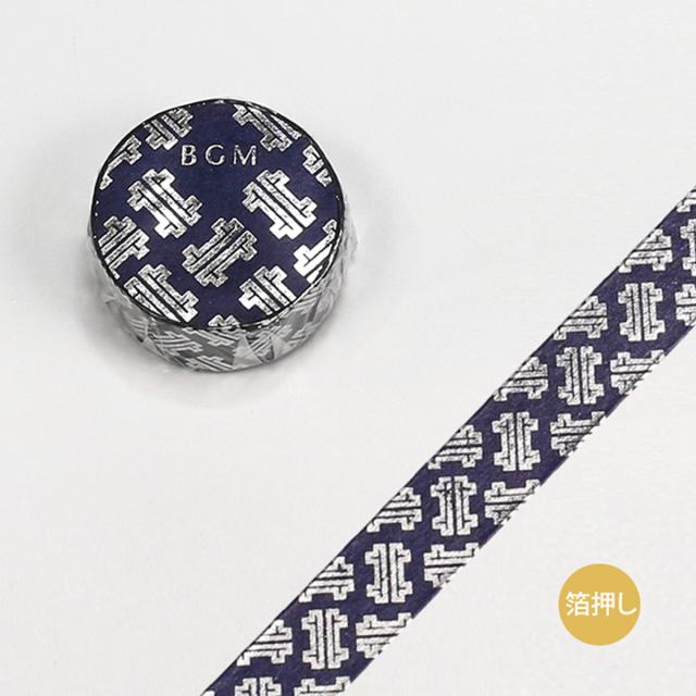 BGMマスキングテープ スペシャル 箔押し 大和物語 紗綾形(BM-SPYMT002)【ネコポスOK】
