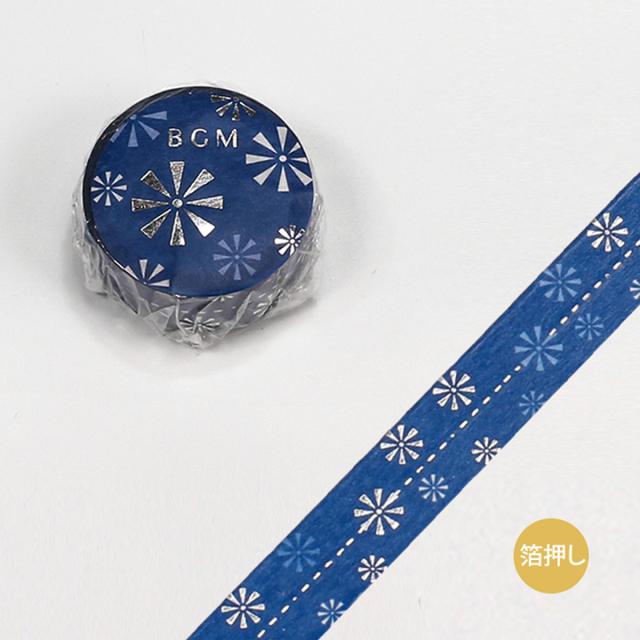BGMマスキングテープ スペシャル 箔押し 大和物語 花火(BM-SPYMT004)【ネコポスOK】