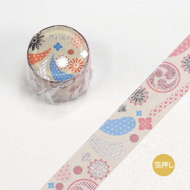 BGMマスキングテープ スペシャル 箔押し 大和物語 祭典(BM-SPYMT006)【宅急便配送】