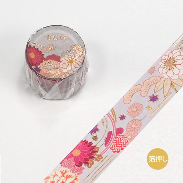BGMマスキングテープ スペシャル 箔押し 大和物語 花の季節(BM-SPYMT012)【宅急便配送】