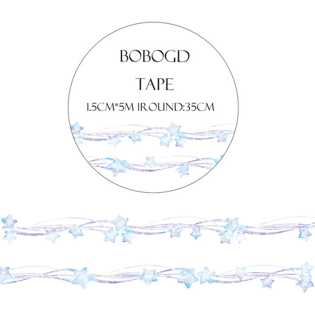 BOBOGDマスキングテープ 繁星落【ネコポスOK】