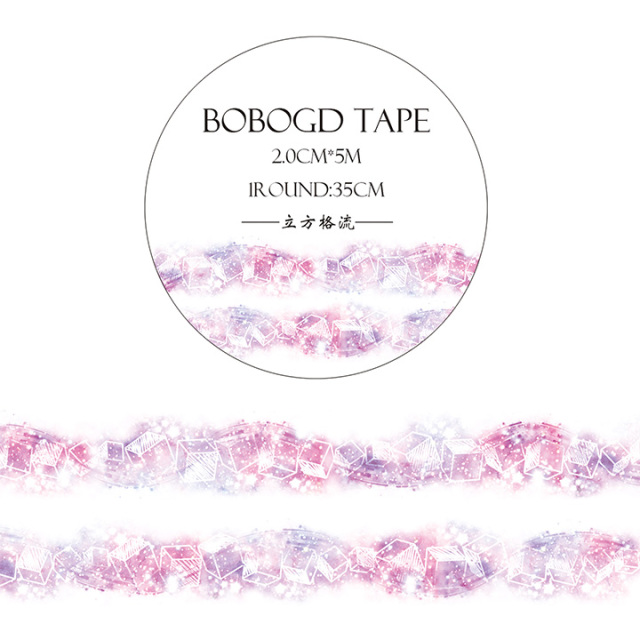 BOBOGDマスキングテープ 立方格流【ネコポスOK】