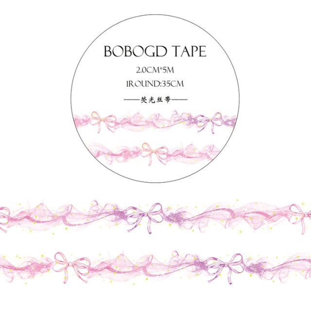 BOBOGDマスキングテープ 蛍光絲帯【ネコポスOK】