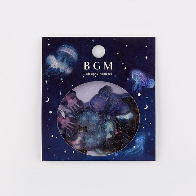 BGMフレークシール くらげ(BS-FF017)【ネコポスOK】