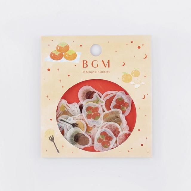 BGMフレークシール 果物(BS-FF018)【ネコポスOK】