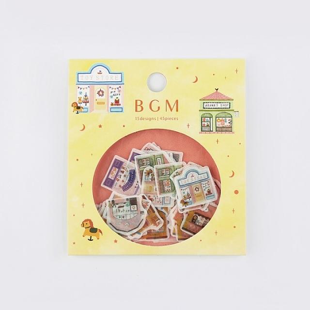 BGMフレークシール 雑貨店(BS-FF019)【ネコポスOK】