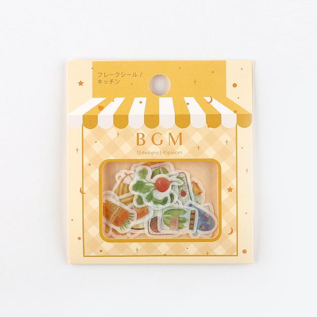 BGMフレークシール キッチン(BS-FF024)【ネコポスOK】