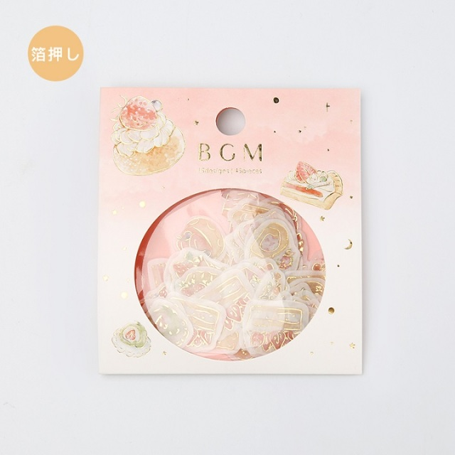 BGMフレークシール イチゴスイーツ(BS-FG041)【ネコポスOK】