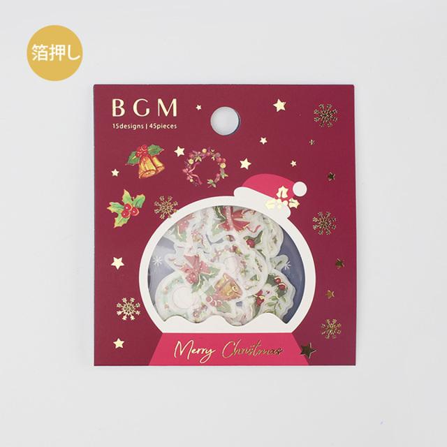 《ご予約商品・10月中旬入荷予定》BGM 2019クリスマスフレークシール クリスマス飾り(BS-FGLC001)【ネコポスOK】