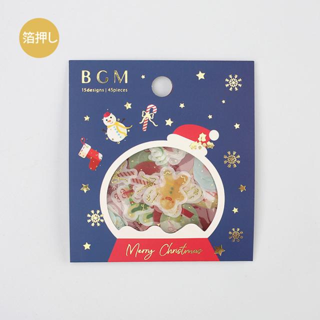 《ご予約商品・10月中旬入荷予定》BGM 2019クリスマスフレークシール クリスマスアイコン(BS-FGLC003)【ネコポスOK】