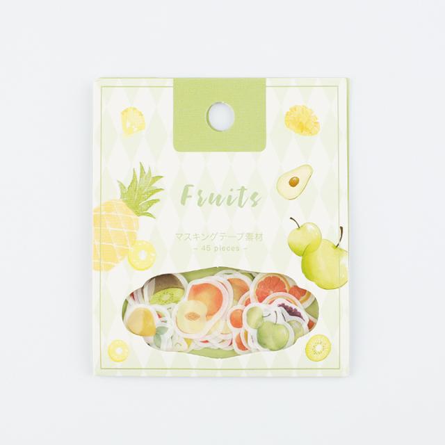 BGMフレークシール 果物(BS-SF001)【ネコポスOK】