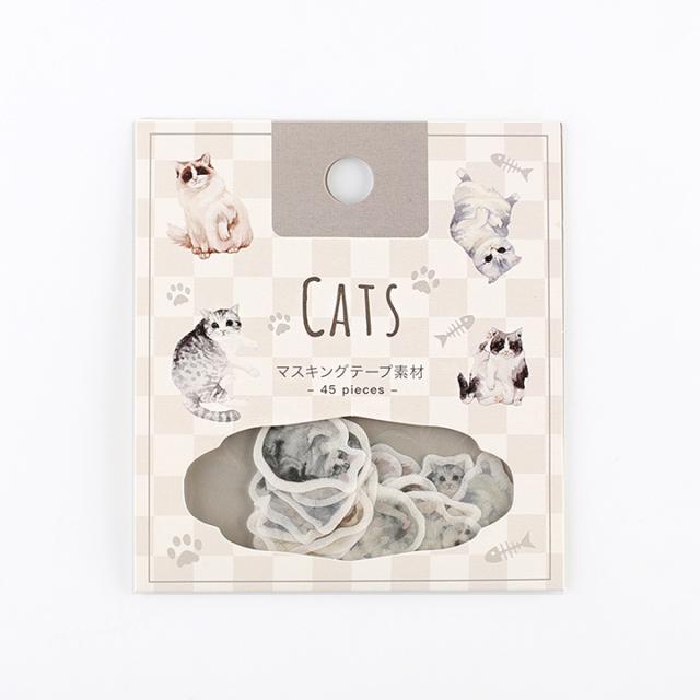 BGMフレークシール 猫の憩い(BS-SF006)【ネコポスOK】