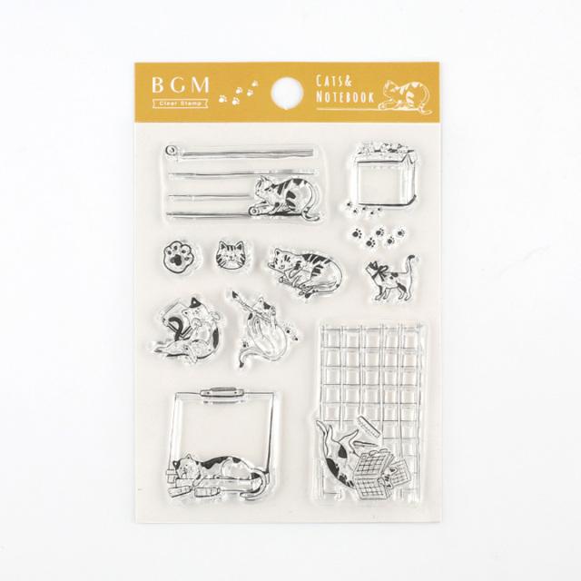 BGMクリアスタンプ 手帳猫(BT-CS003)【ネコポスOK】