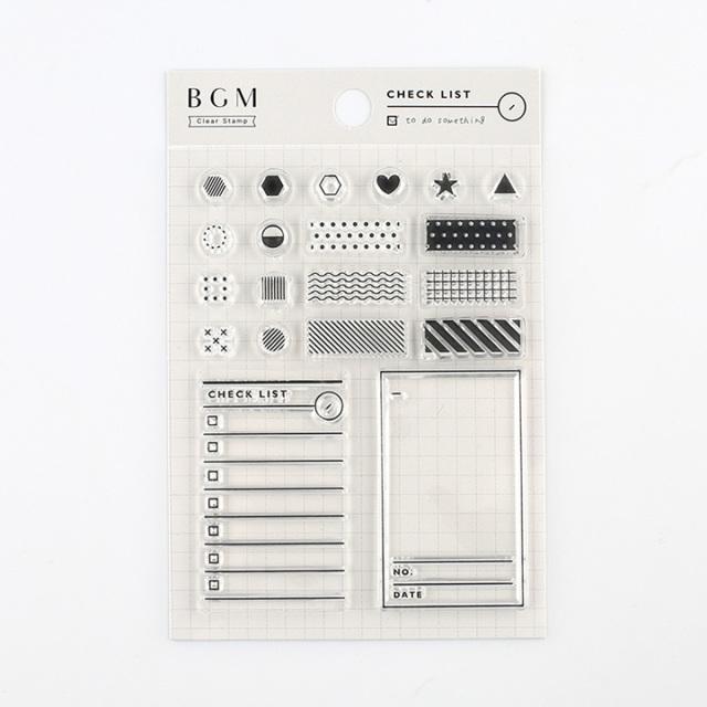 BGMクリアスタンプ チェック(BT-CS007)【ネコポスOK】