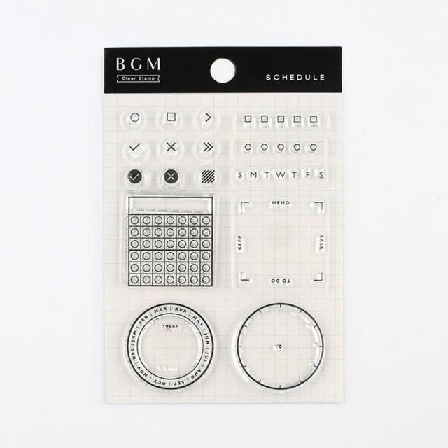 BGMクリアスタンプ スケジュール(BT-CS008)【ネコポスOK】