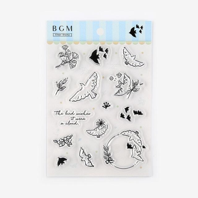 BGMクリアスタンプ 小鳥(BT-CS010)【ネコポスOK】