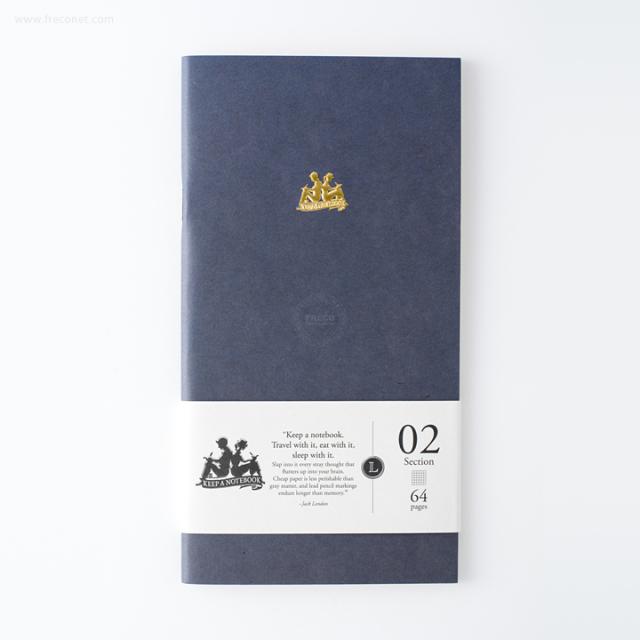 台湾 青青文具 KEEP A NOTEBOOK A5 Slim 機能性ノート 方眼(CKN-001 B)【ネコポスOK】