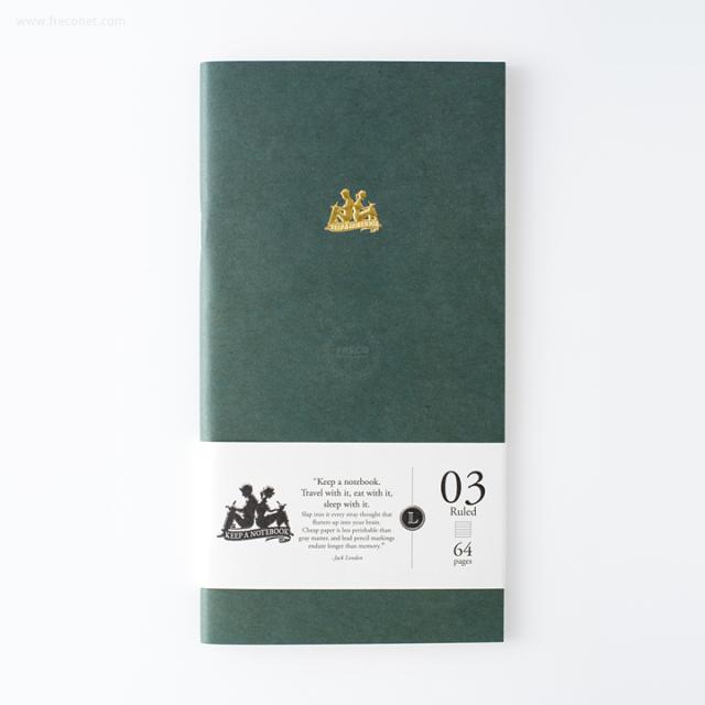 台湾 青青文具 KEEP A NOTEBOOK A5 Slim 機能性ノート 横罫(CKN-001 C)【ネコポスOK】