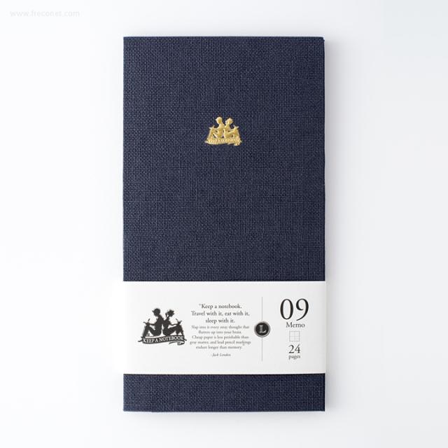 台湾 青青文具 KEEP A NOTEBOOK A5 Slim コラージュ便箋 Iron Blue(CKN-002 A)【ネコポスOK】