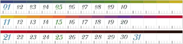 台湾 青青文具 KEEP A NOTEBOOK 日付マスキングテープ3巻セット Color way(CKN-016 B)【ネコポスOK】