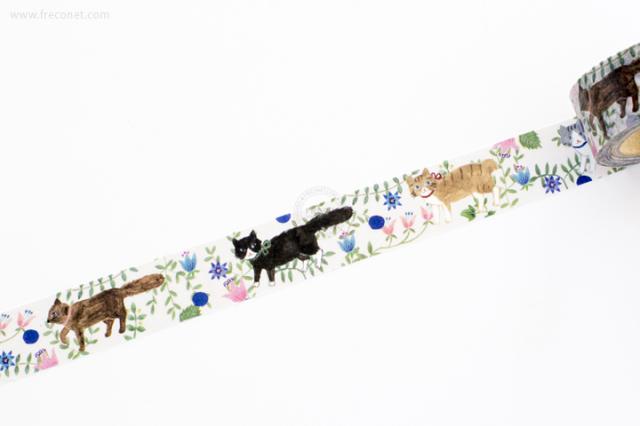 Aiko Fukawaマスキングテープ NEKO(22-629-500)【ネコポスOK】