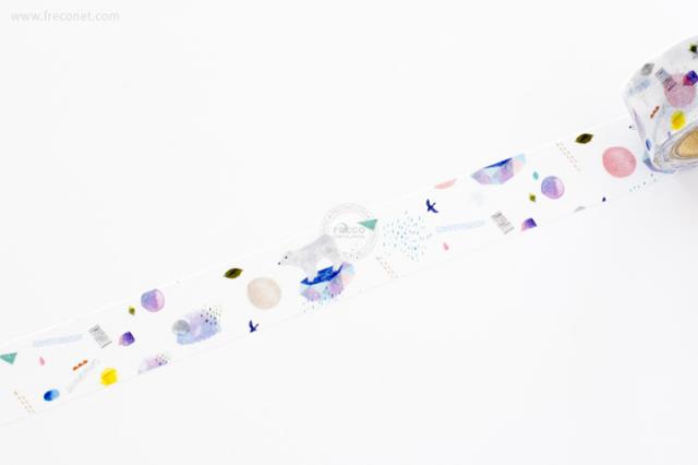 Aiko Fukawaマスキングテープ SHIROKUMA(22-630-500)【ネコポスOK】