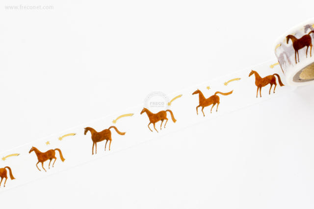 西淑マスキングテープ Horse(22-637)【ネコポスOK】