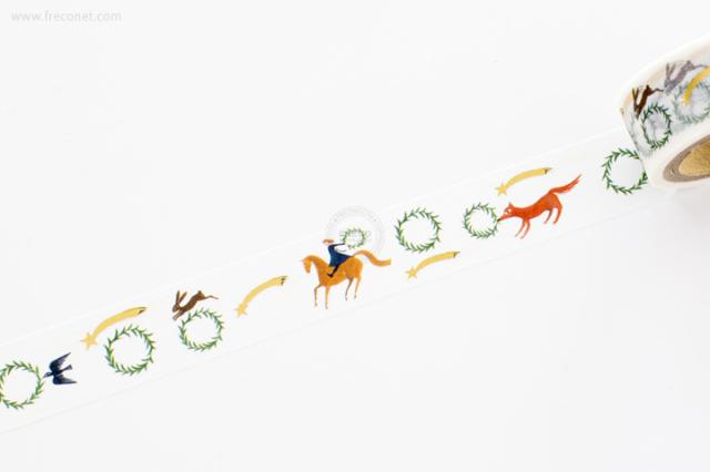 西淑マスキングテープ Wreath(22-639)【ネコポスOK】