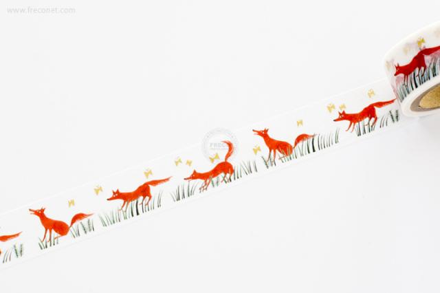 西淑マスキングテープ Fox(22-640)【ネコポスOK】