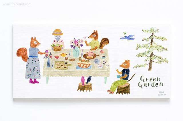Aiko Fukawa 一筆箋 Green Garden(23-893-350)【ネコポスOK】
