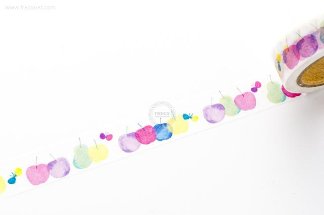naminamilandマスキングテープ りんご(MT-13806)【クロネコDM便OK】