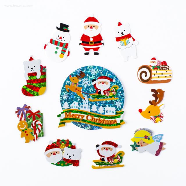 ハッピーギフトフレークシール クリスマス R(00782)【ネコポスOK】