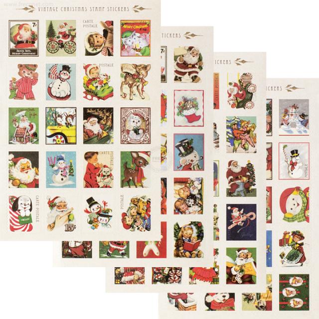 ヴィンテージクリスマス切手シール(CSS-X1)【ネコポスOK】