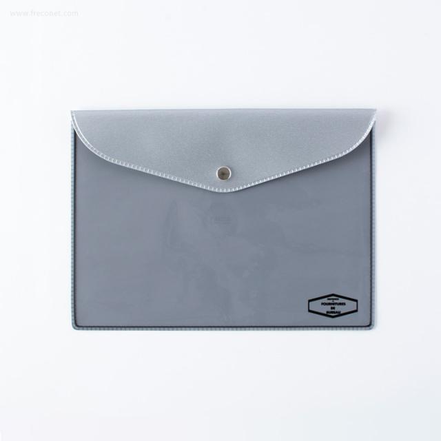 DELFONICS ビニールブリーフケース メタリック A6 シルバー(500113 704)【ネコポスOK】