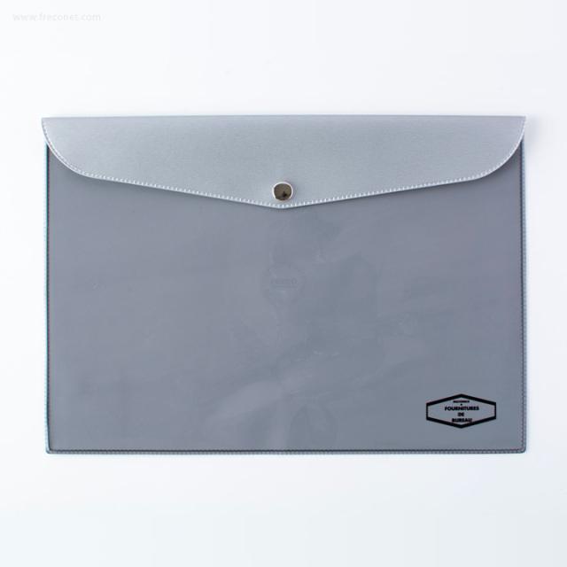 DELFONICS ビニールブリーフケース メタリック B5 シルバー(500114 704)【ネコポスOK】