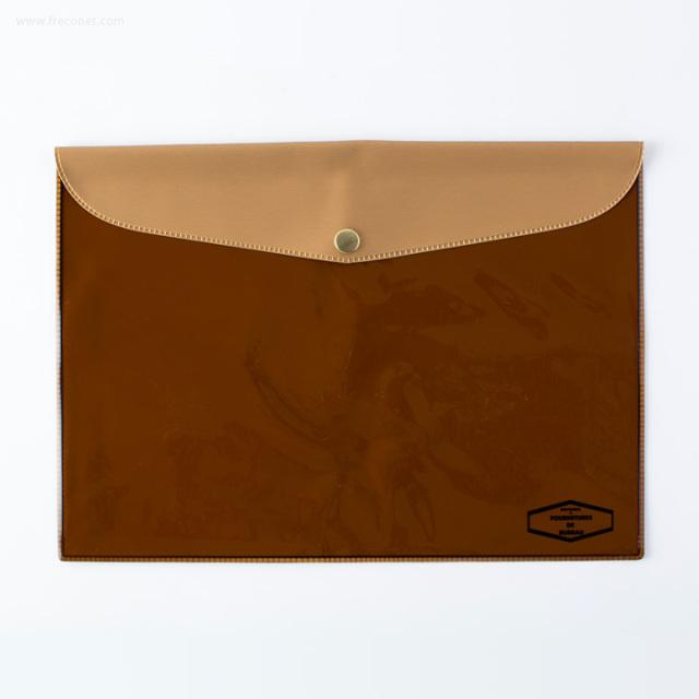 DELFONICS ビニールブリーフケース メタリック B5 ゴールド(500114 705)【ネコポスOK】