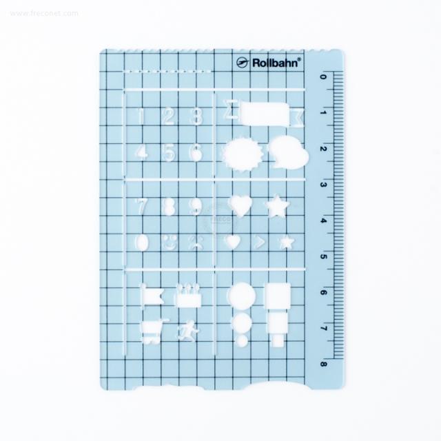 ロルバーンテンプレート ポケット付きメモL用 クリアブルー(500607-720)【ネコポスOK】