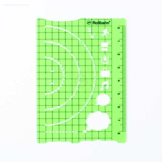 ロルバーンテンプレート ポケット付きメモL用 クリアグリーン(500607-721)【ネコポスOK】