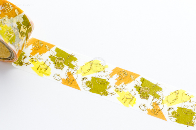 箔押し くまのプーさんマスキングテープ【クロネコDM便OK】