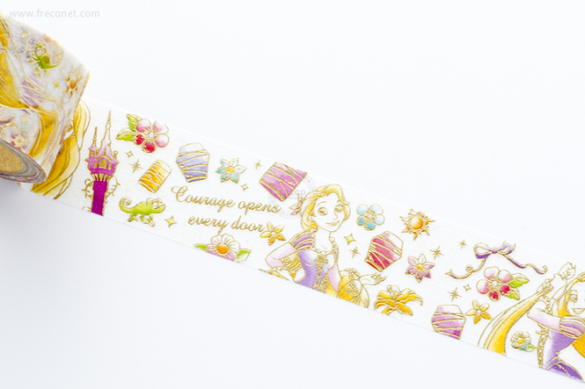 箔押し ディズニーマスキングテープ ラプンツェル【ネコポスOK】