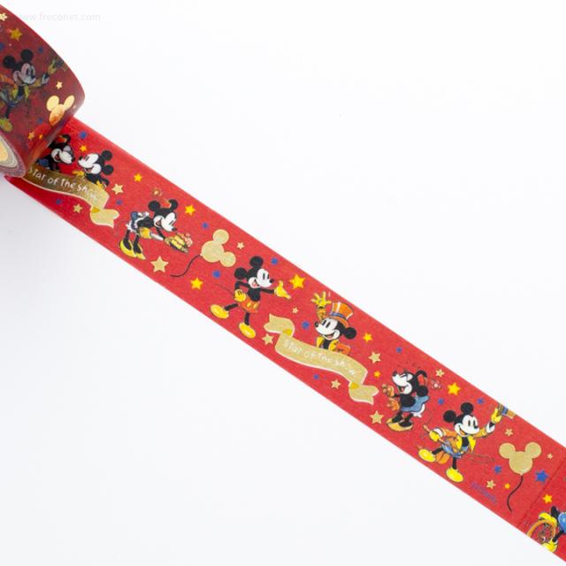 ディズニーマスキングテープ ミッキー&ミニー/レッド(DZ-79734)【ネコポスOK】
