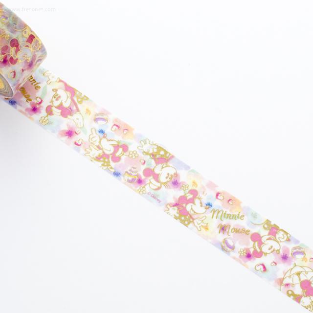 ディズニーマスキングテープ ミニー/お花(DZ-79735)【ネコポスOK】