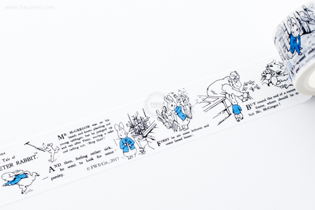 ピーターラビットマスキングテープ グラフィック(EPR4)【宅急便配送】