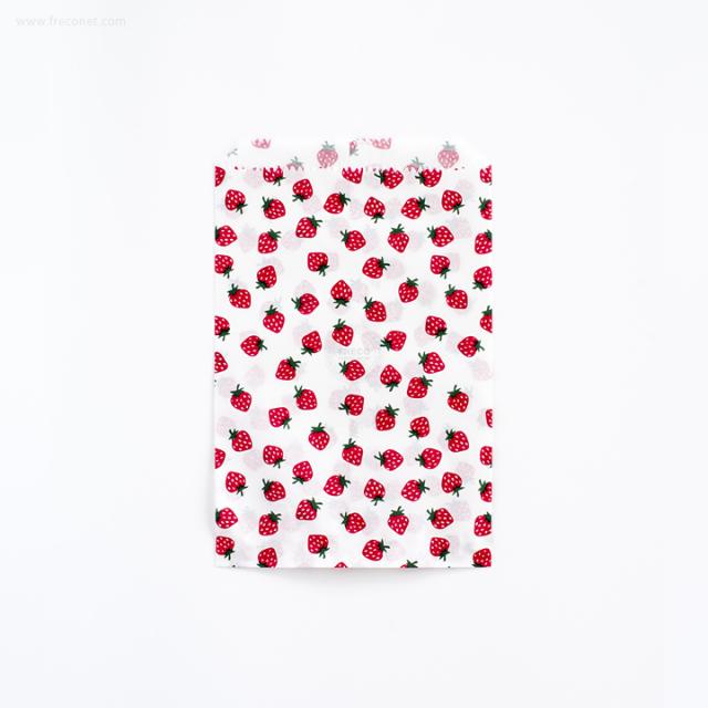 いちごの紙袋 M 10枚入【ネコポスOK】