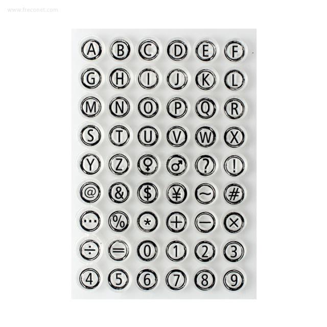 クリアスタンプ タイプライター 白【ネコポスOK】