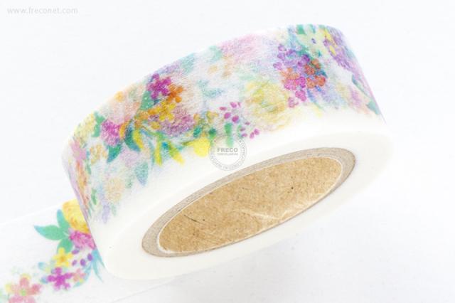 八鈴舎マスキングテープ flower garland【ネコポスOK】