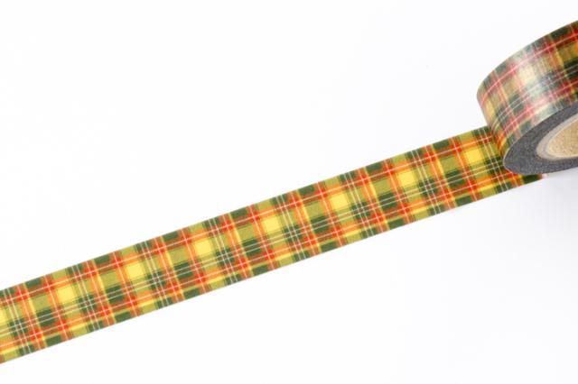 フレコマスキングテープ クラン・タータン イエロー(FJT-008)【ネコポスOK】