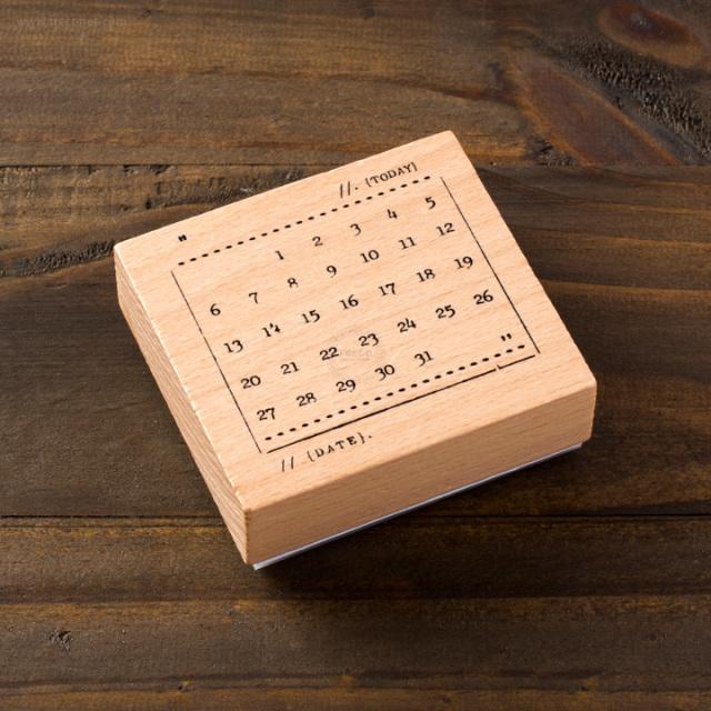 手帳スタンプ 月間カレンダー【ネコポスOK】