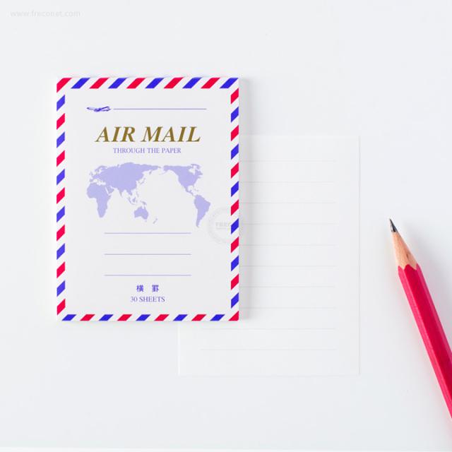すごく小さいエアメール便箋ミニ 横罫(FM-H226)【クロネコDM便OK】
